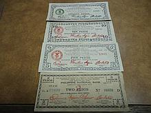 2,5,10 & 20 PESOS WWII PHILIPINNES GUERRILLA MONEY