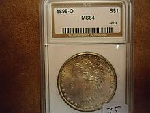 1898-O MORGAN SILVER DOLLAR NAS MS64