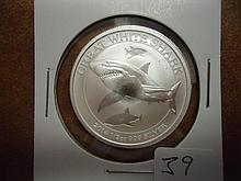 2014 AUSTRALIA 50 CENT 1/2 OZ. SILVER GREAT WHITE