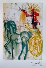 Salvador Dali Dalinean Horse Le Cheval De Triomphe Limited Edition Facsimile Signed Lithograph