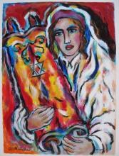 Alex Meilichson Yeshive Bucher Hand Signed Limited Edition Serigraph