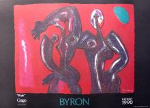Byron Galvez Rojo Facsimile Signed Embossed Acrylograph