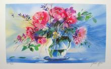 Claude Mars Spring Bouquet Iii Hand Signed Limited Edition Lithograph