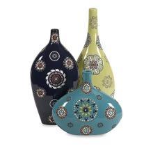 Peyton Handpainted Vases- Set of 3