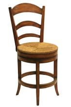Swivel Pastoral Counter Chair - No Arms