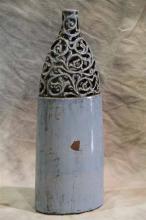Light Blue Bottle Vase - L