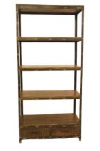 2 Drawer Open Bookcase