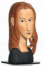 Jeanne Hebuterne Face Statue (1918) by Modigliani