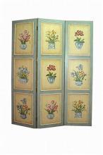 3-panel Botanical Screen
