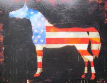 Craig Alan American Heritage Hand Signed Embellished Giclee On Stretched Canvas