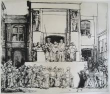 Rembrandt Christ Presented To The People Etching