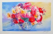 Claude Mars Spring Bouquet Iv Hand Signed Limited Edition Lithograph