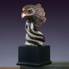 Eagle Head W/american Flag