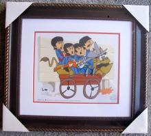 The Beatles Bullride Framed Animation Art Cartoon Sericel Cel