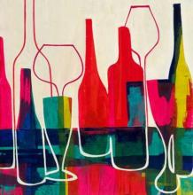 Original Painting By Liz Jardine-Raise Your Glass