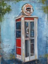 Original Painting By Liz Jardine-Telephone Booth