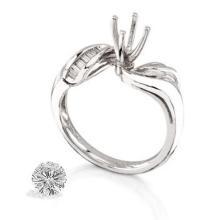 Ring...platinum 7.8 Gram 0.18ct Diamond Si1-si2 G-h