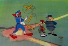 Bozo The Clown Bozo Baseball Animation Art Sericel