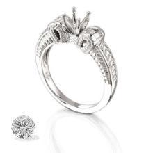 Ring...platinum 8.5 Gram 0.22ct Diamond Si1-si2 G-h