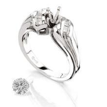 Ring...platinum 10.1 Gram 0.25ct Diamond Si1-si2 G-h