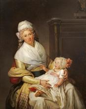 Henri-pierre Danloux - Portrait Of Constantia Foster