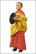 TIBETAN LAMA BOY HOLDING CYMBAL