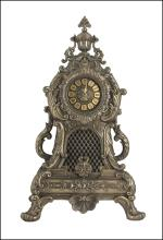 BAROQUE STYLE LARGE MANTLE CLOCK  - Cold Cast Bronze