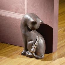 Cat and Mouse Doorstop