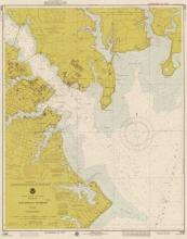 Noaa Historical Map & Chart Collection - Nautical Chart - Annapolis Harbor Ca. 1975 - Sepia Tinted