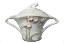 FREESIA SUGAR JAR (PINK FLOWER)