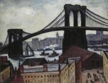 Samuel Halpert - View Of Brooklyn Bridge, 1920s