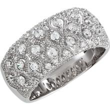 Sterling Silver Cubic Zirconia Anniversary Band Size 6