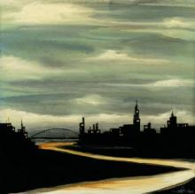 Original-KC Haxton-The River in Town