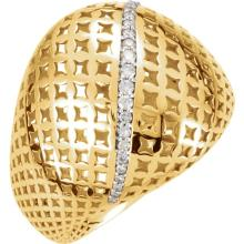14kt Yellow 1/6 CTW Diamond Pierced Style Ring