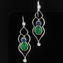 One of a Kind-Natural Green Jade Earrings