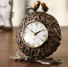 Lovebirds and Nest Clock