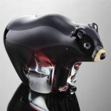 Art Glass Black Bear