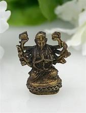 Kuan-yin With Thousand Arms Bronze Statue, Miniature