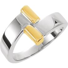 14kt Two-Tone Bypass Ring