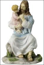 JESUS HOLDING A CHILD (LIGHT COLOR)