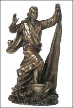JESUS THE FISHERMAN - Cold Cast Bronze