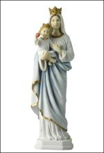 MOTHER MARY STANDING AND HOLDING BABY JESUS (LIGHT COLOR)