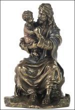 JESUS HOLDING A CHILD - Cold Cast Bronze