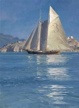 Christopher Blossom - Pilot Schooner Gracie S., Becalmed Off Alcatraz