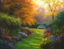 Charles White - Autumn Garden By Charles White.