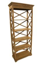 Cross Back Open Bookcase-natural