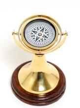 Gimbaled Compass on wood base