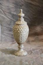 White Patterned Vase-s