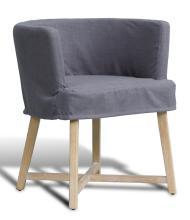 Slipcover Bucket Chair Blue Linen