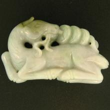 Natural Green Lavender Jade Statuary